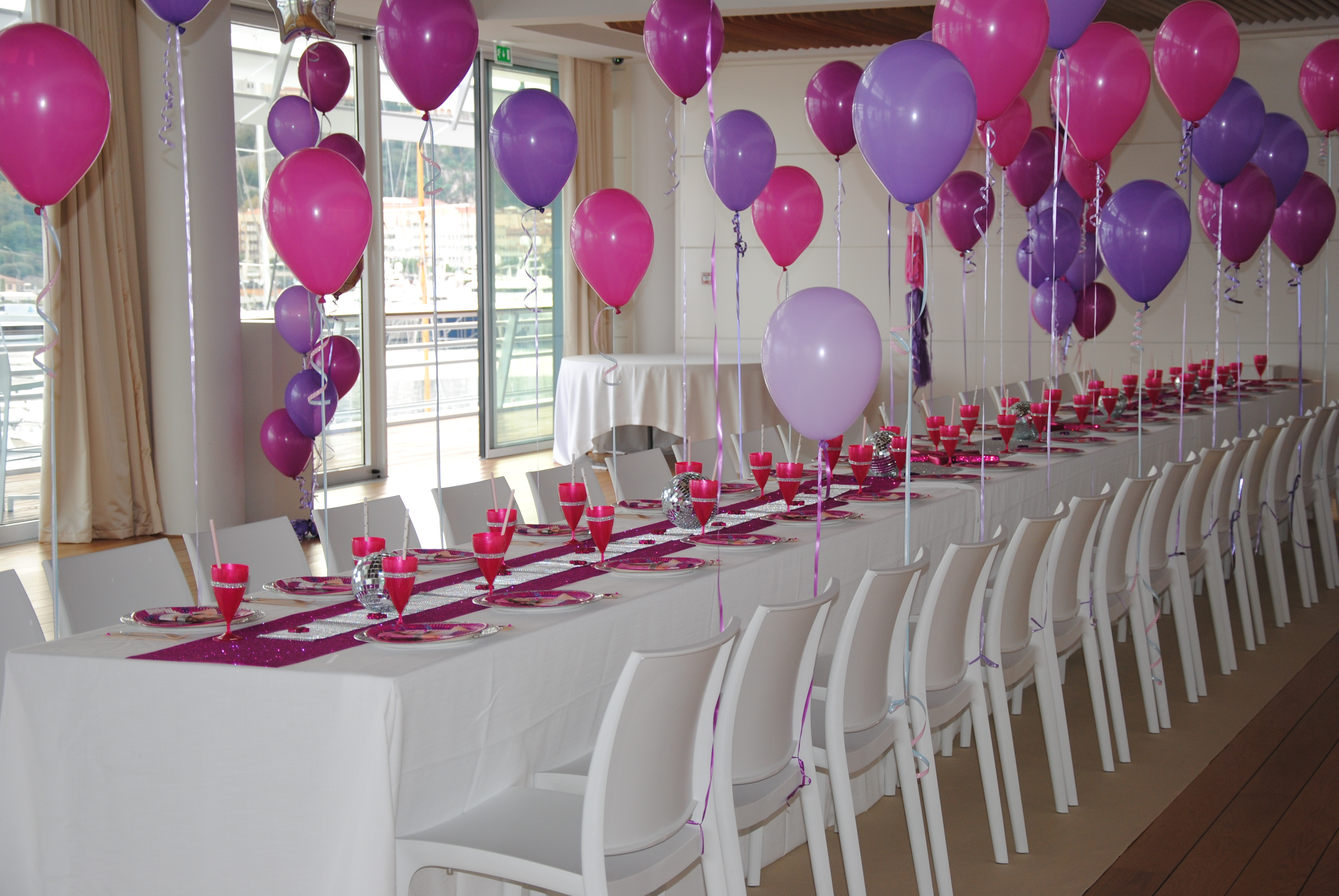 Violetta disco party for Kids birthday decorations at home