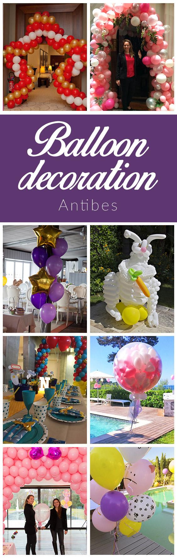 balloon decoration antibes