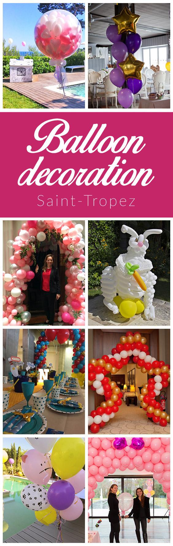 balloon decoration saint tropez