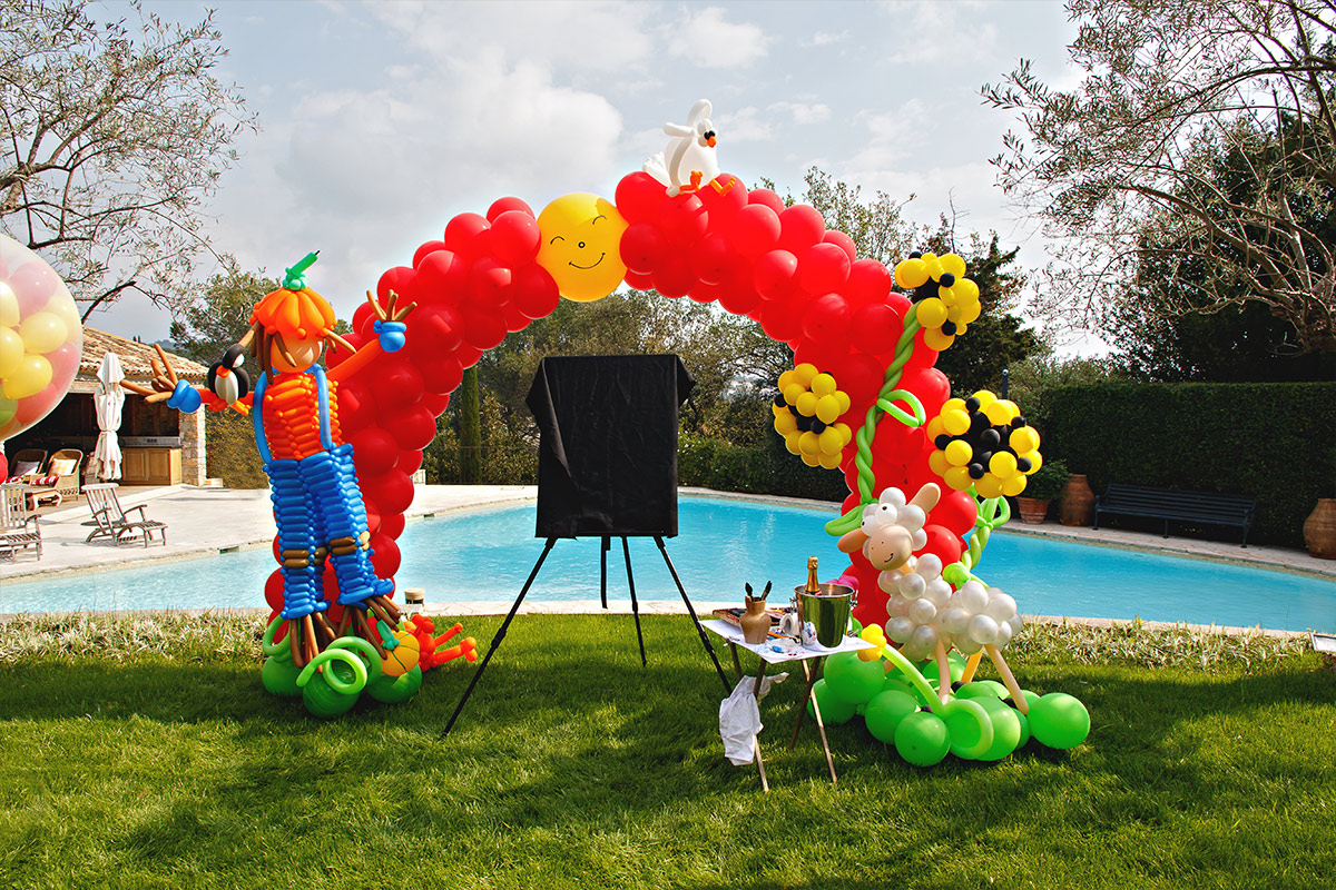 ballon decoration pool